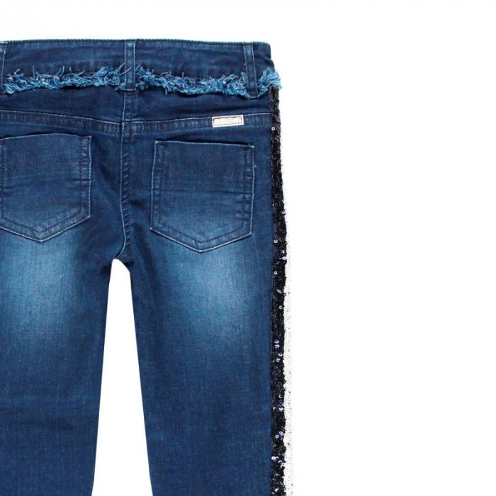 Pantalon jeans fete 8-16 ani cu strasuri , Boboli 3