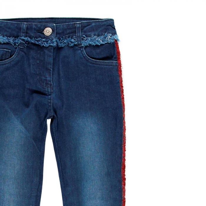 Pantalon jeans fete 8-16 ani cu strasuri , Boboli 2