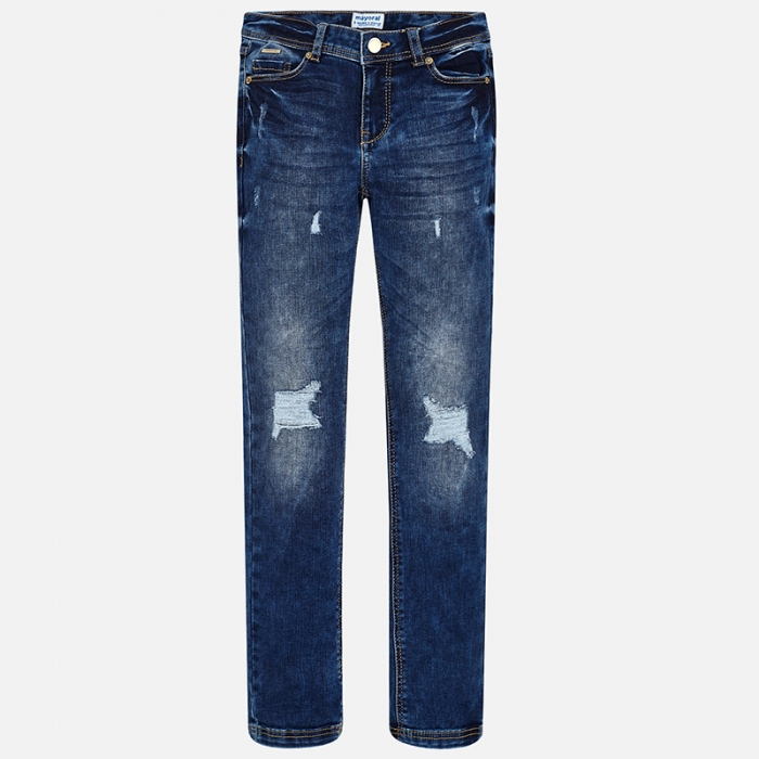 Pantalon jeans fete 8-16 ani Mayoral 0