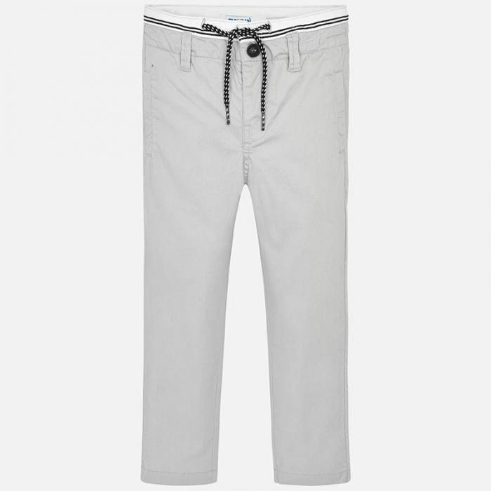 Pantalon lung baiat chino slim fit gri Mayoral [1]
