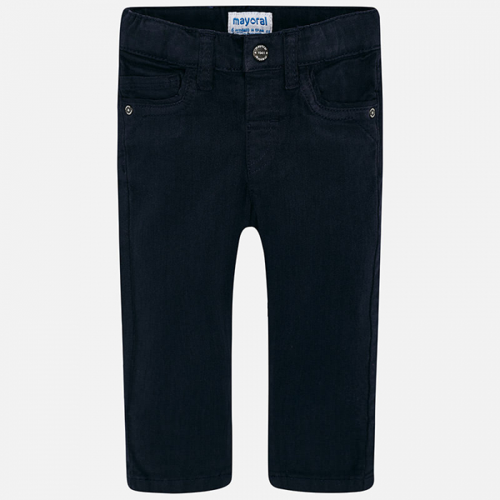 Pantalon lung bebe baiat ,super slim,bleumarin, Mayoral 0