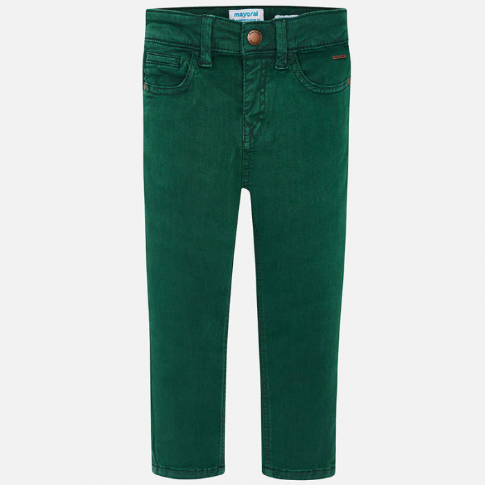 Pantalon lung canvas baiaeti, verde, Mayoral 1