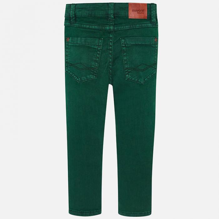 Pantalon lung canvas baiaeti, verde, Mayoral 2