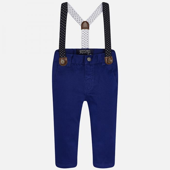 Pantalon navy cu bretele Mayoral 1525 0