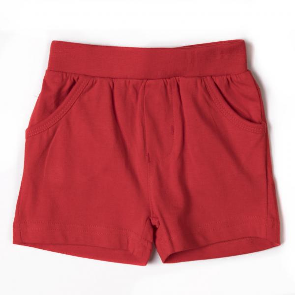 Pantalon scurt bumbac baieti, rosu, Babybol [0]
