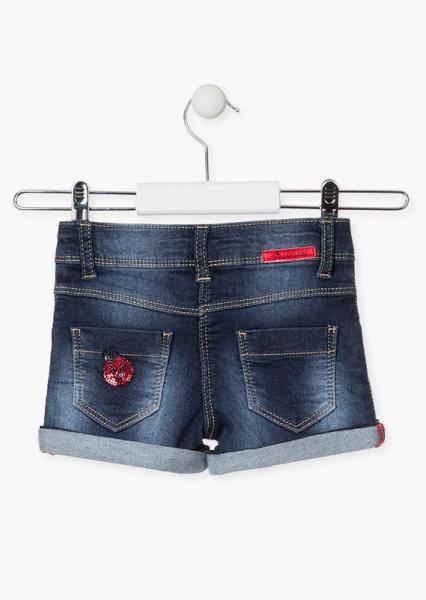 Pantalon scurt fete, broderie gargarite, denim 1