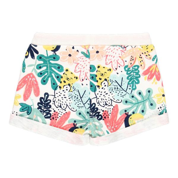 Pantalon scurt fete bumbac, imprimeu multicolor, Boboli 1