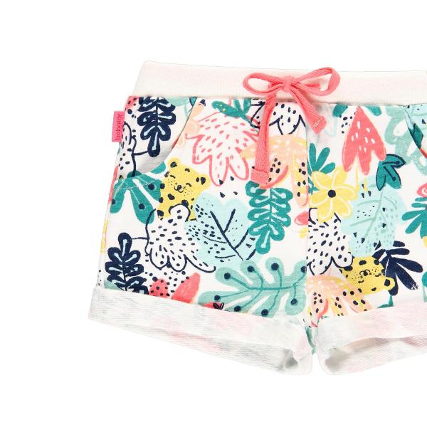 Pantalon scurt fete bumbac, imprimeu multicolor, Boboli 2