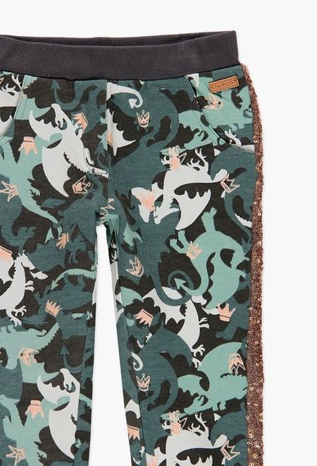 Pantalon sport fete, imprimeu camuflaj , Boboli 2