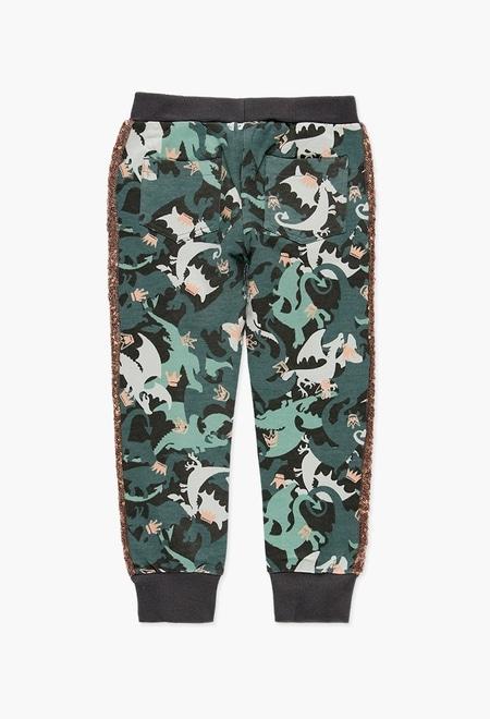 Pantalon sport fete, imprimeu camuflaj , Boboli 1