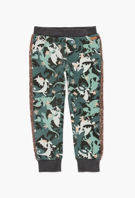 Pantalon sport fete, imprimeu camuflaj , Boboli 0