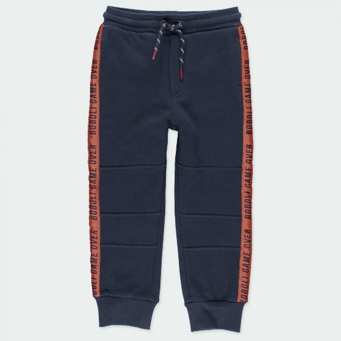 Pantalon trening baieti vatuit, navy, Boboli 1