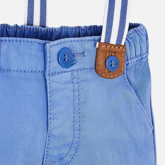 Pantaloni bebe baiat cu bretele, azur, Mayoral 2
