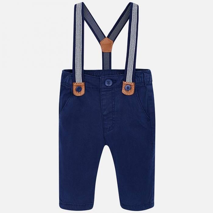 Pantaloni bebe cu bretele, navy, Mayoral 0