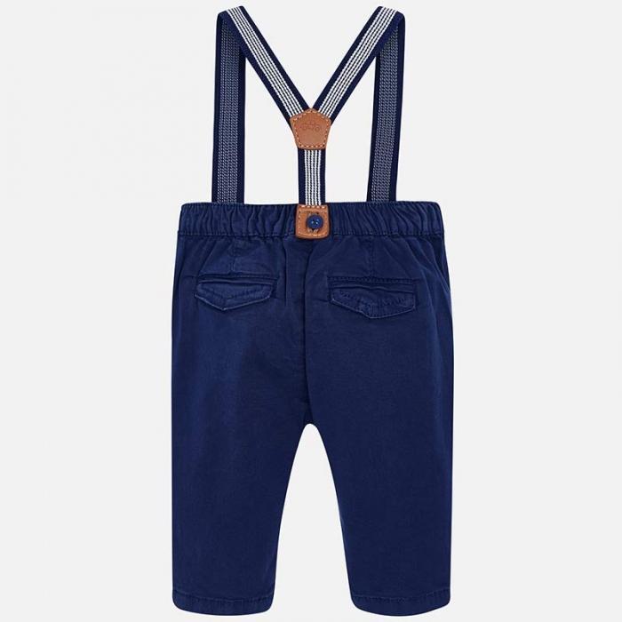 Pantaloni bebe cu bretele, navy, Mayoral 1
