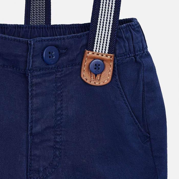 Pantaloni bebe cu bretele, navy, Mayoral 2