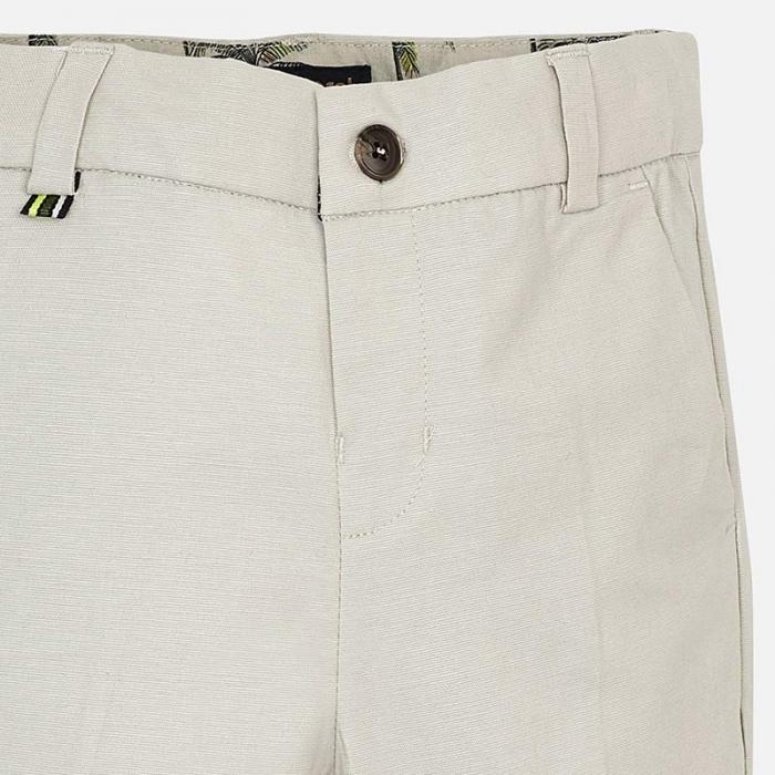 Pantaloni chino lungi de in costum baiat 2-9 ani Mayoral, bej 2