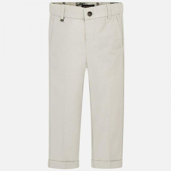 Pantaloni chino lungi de in costum baiat 2-9 ani Mayoral, bej 0
