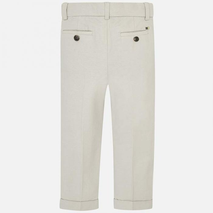 Pantaloni chino lungi de in costum baiat 2-9 ani Mayoral, bej 1
