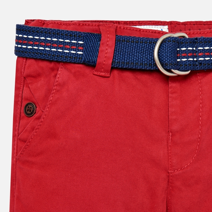 Pantaloni cu curea baiat ,captusiti bbc, Mayoral, culoare rosie 2