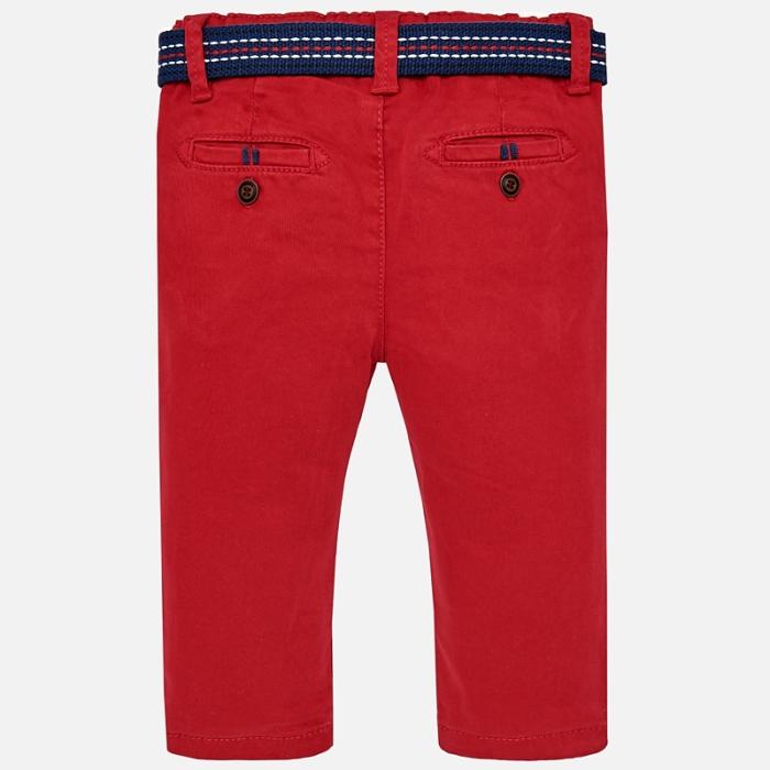 Pantaloni cu curea baiat ,captusiti bbc, Mayoral, culoare rosie 1