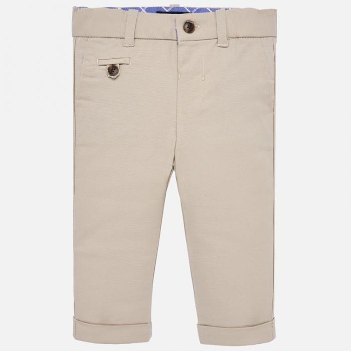 Pantaloni eleganti baieti Mayoral Bej 0