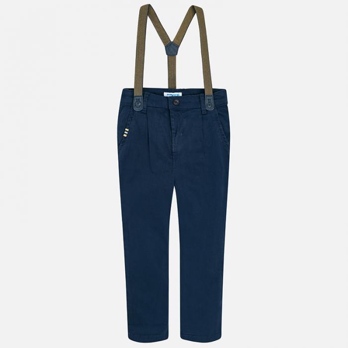 Pantaloni eleganti cu bretele baieti, navy, Mayoral 1
