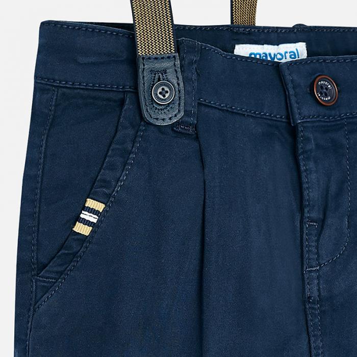 Pantaloni eleganti cu bretele baieti, navy, Mayoral 2