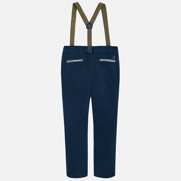 Pantaloni eleganti cu bretele baieti, navy, Mayoral 0