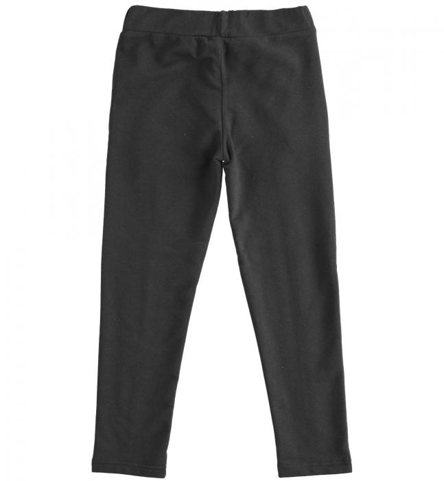 Pantaloni fete tip colant, vatuit, negru, iDO [1]