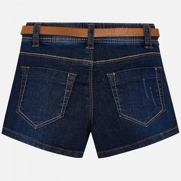 Pantaloni scurti jeans cu curea Mayoral denim [1]