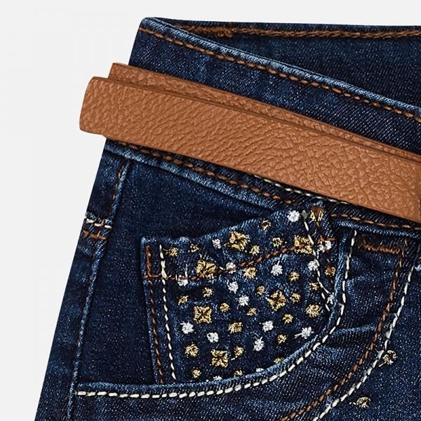 Pantaloni scurti jeans cu curea Mayoral denim [2]