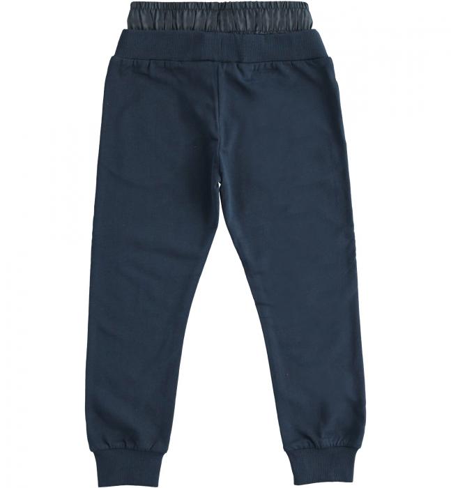 Pantaloni sport baiat, talie joasa, navy, iDO 1