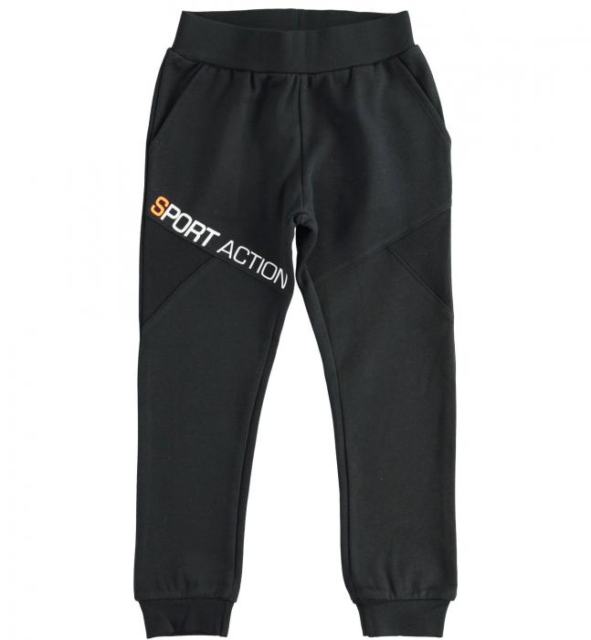 Pantaloni trening baieti, negru, iDO 0