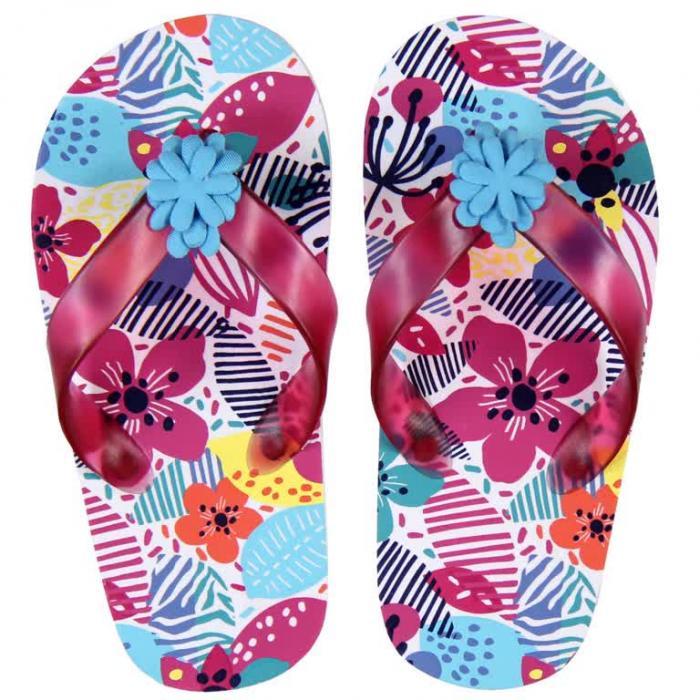 Papuci plaja cu flori Boboli 0