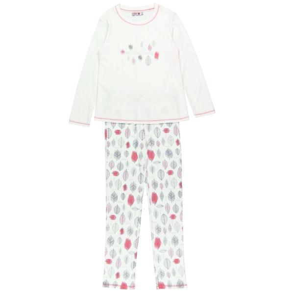 Pijama fete bumbac imprimeu frunze Boboli 0