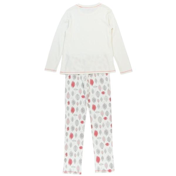 Pijama fete bumbac imprimeu frunze Boboli 1