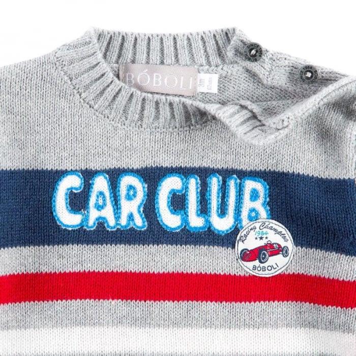 """Pulover bebe baiat, multicolor, """"car club"""", Boboli 3"""