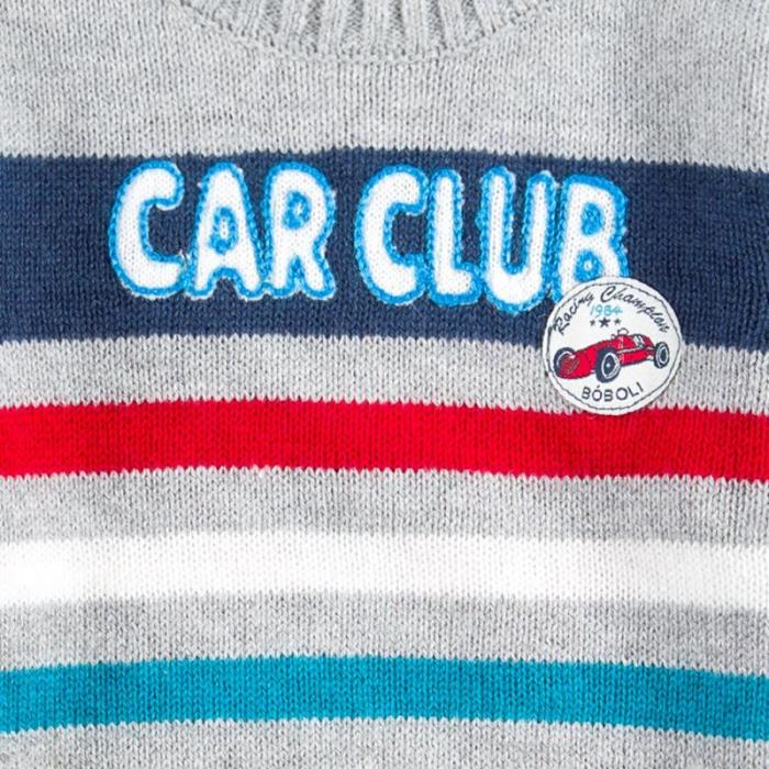 """Pulover bebe baiat, multicolor, """"car club"""", Boboli 2"""
