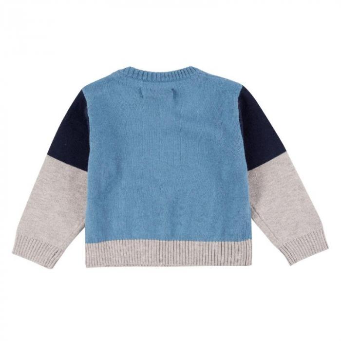 Pulover tricot baiat in V, blue, Boboli 1