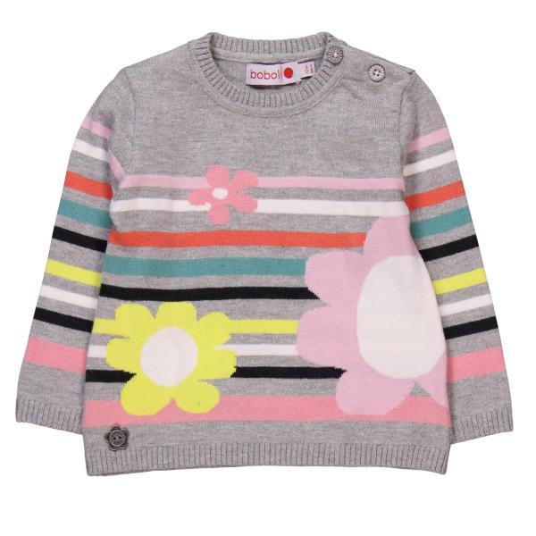 Pulover tricot cu flori Boboli 0