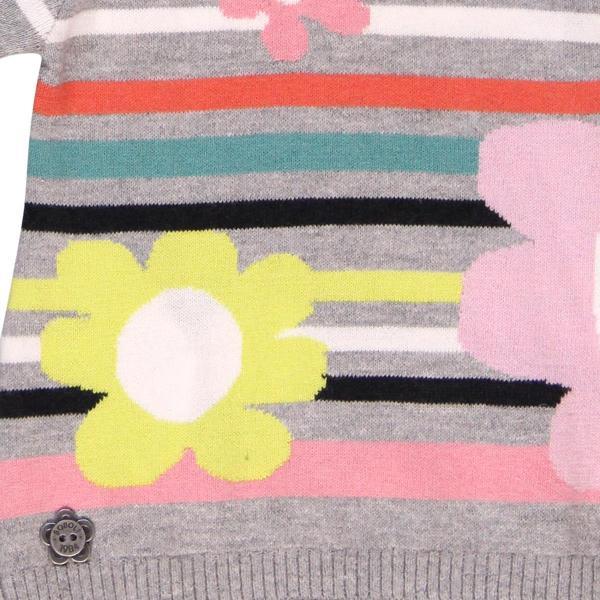 Pulover tricot cu flori Boboli 3