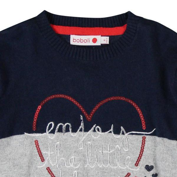 Pulover tricotat fete Boboli 2
