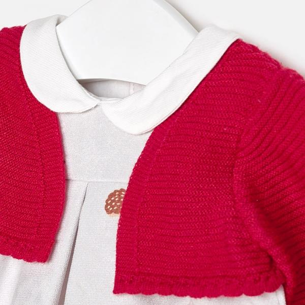 Rochie cu bolero aplicat rosu, Mayoral 2