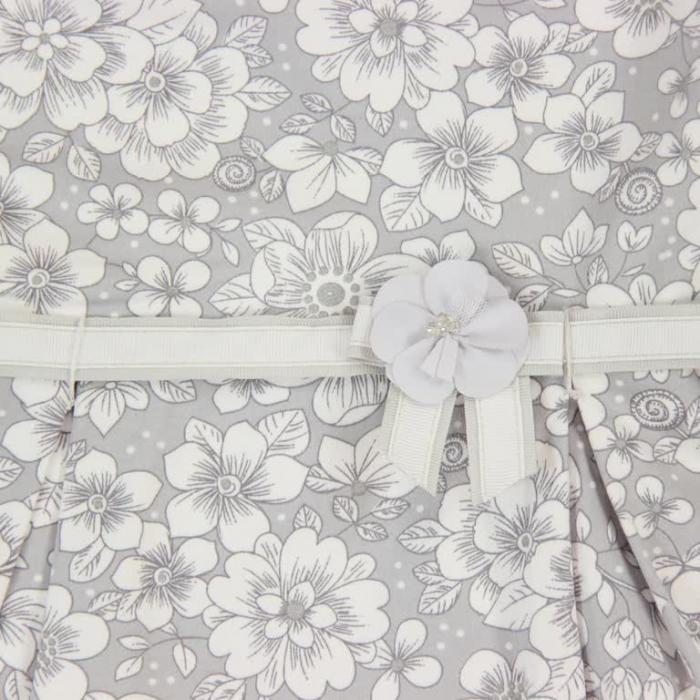 Rochie eleganta cu spate gol, imprimeu flori,gri, Boboli 2