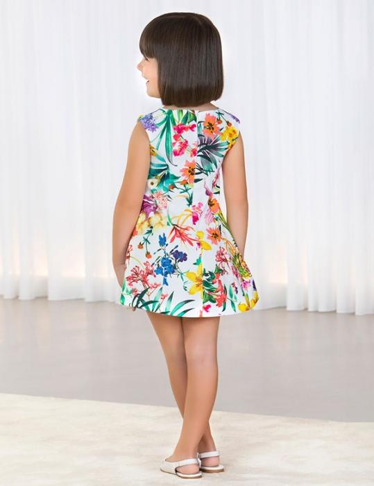 Rochie eleganta fete , imprimeu floral, Abel&Lula 2