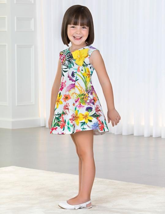Rochie eleganta fete , imprimeu floral, Abel&Lula 1
