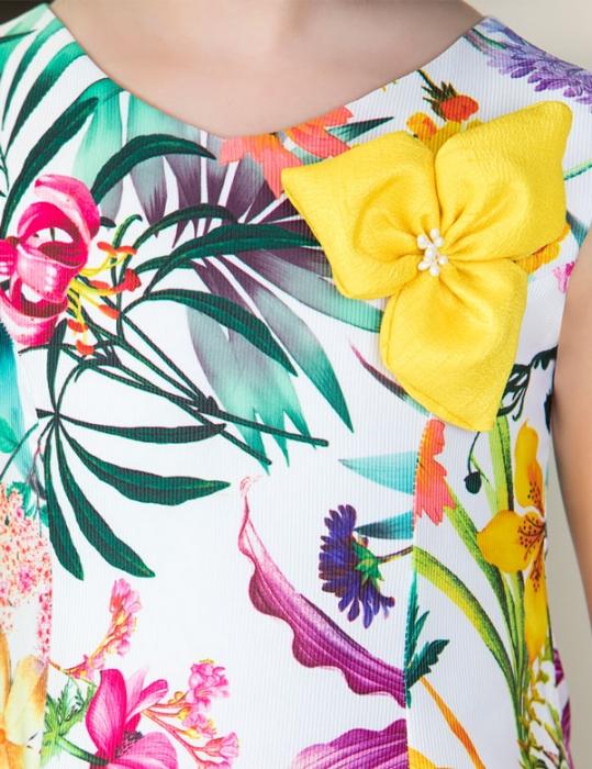 Rochie eleganta fete , imprimeu floral, Abel&Lula 3