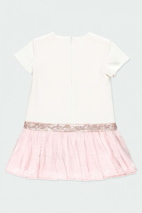 Rochie eleganta , imprimeu fetita, paiete, roz, Boboli 3