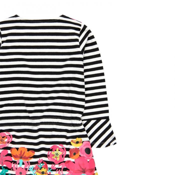 Rochie fete cu dungi si imprimeu floral Boboli 3